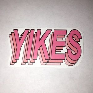 Other - Pink Yikes Sticker